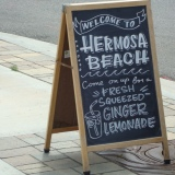 welcome sign, Hermosa Beach, CA