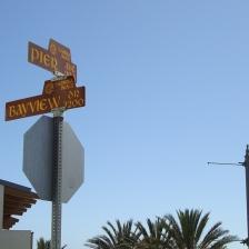 street sign, Hermosa Beach, CA