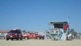 beach guards, Hermosa Beach, CA