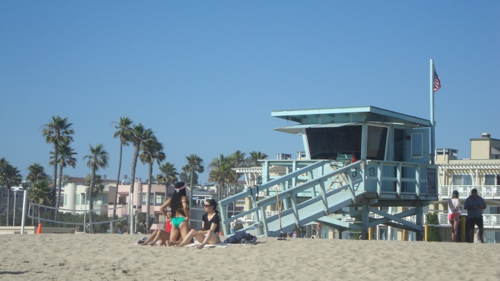L. A. SUMMER LOVE: Hermosa Beach, CA / A poem: Watching surfers surf