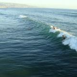 Watching surfers surf, Hermosa Beach, CA
