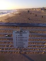 beach sign, Hermosa Beach, CA