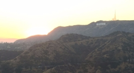 Hollywood sign, view from Griffith Observatory, June 2017