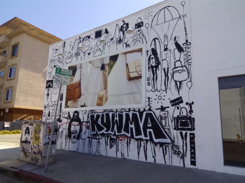 Streetart in West Hollywood, LA, CA
